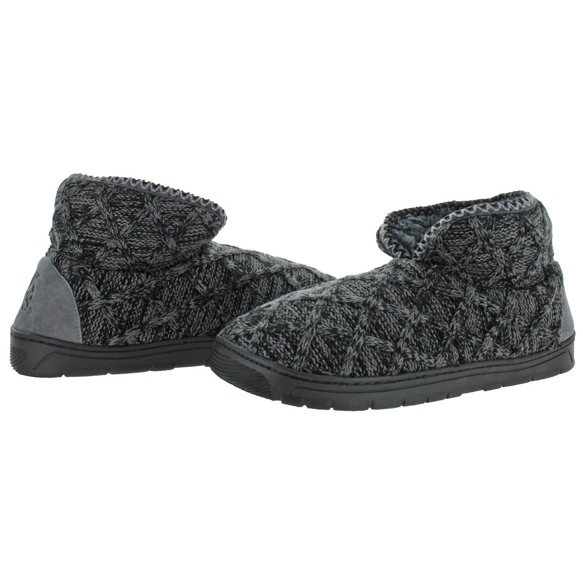 Mukluks-Men-039-s-Mark-Sweater-Knit-Furpa-Ankle-Bootie-House-Slippers thumbnail 3