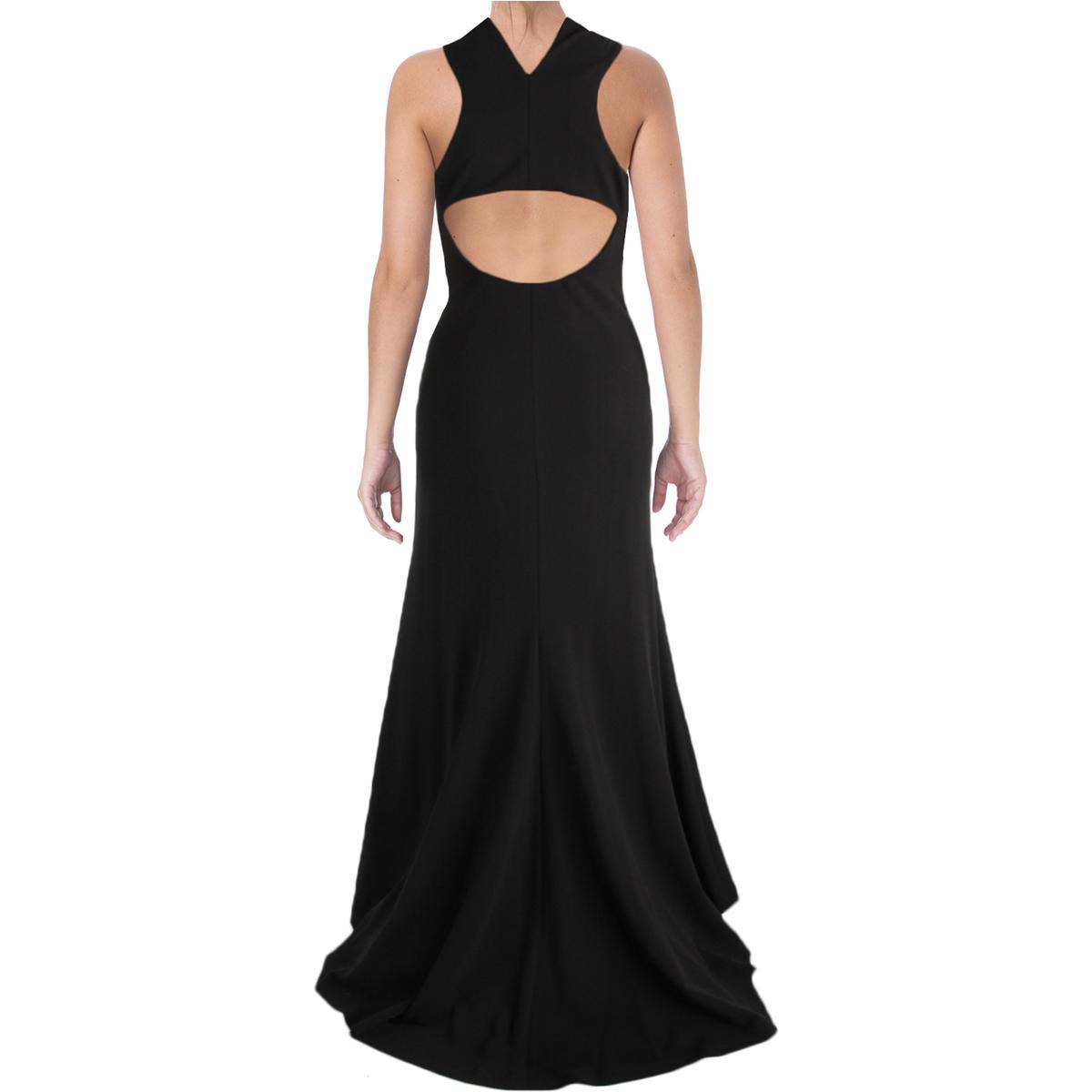 Vera Wang Womens Jersey Cut-Out Sleeveless Evening Dress Gown BHFO ...