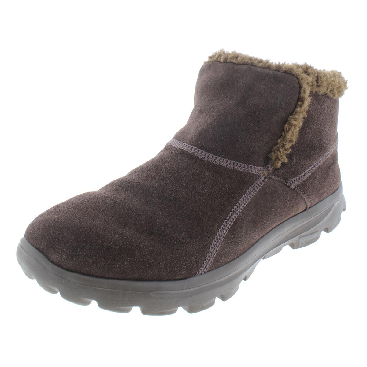 afcc86fec2b Details about Skechers Womens Chugga Imprint Brown Winter Boots 11 Extra  Wide (E+