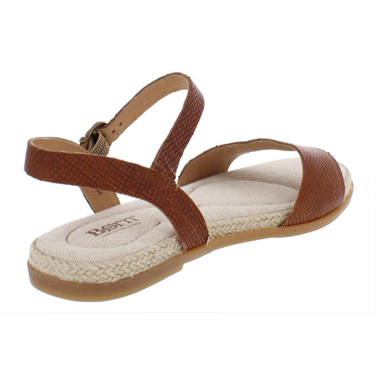 a051787c3a91 Born Welch Ankle Strap Flat Sandals Brown 8 US   39 EU for sale ...