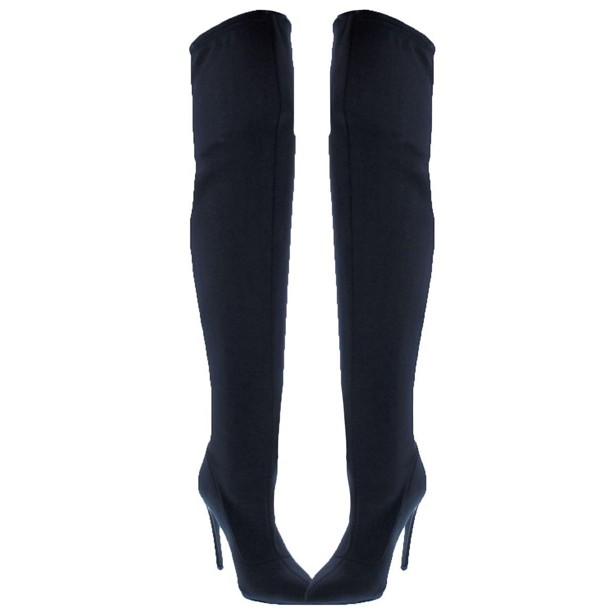 cdcdf04e945 Steve Madden Womens Slammin Black Over-The-Knee Boots 10 Medium (B