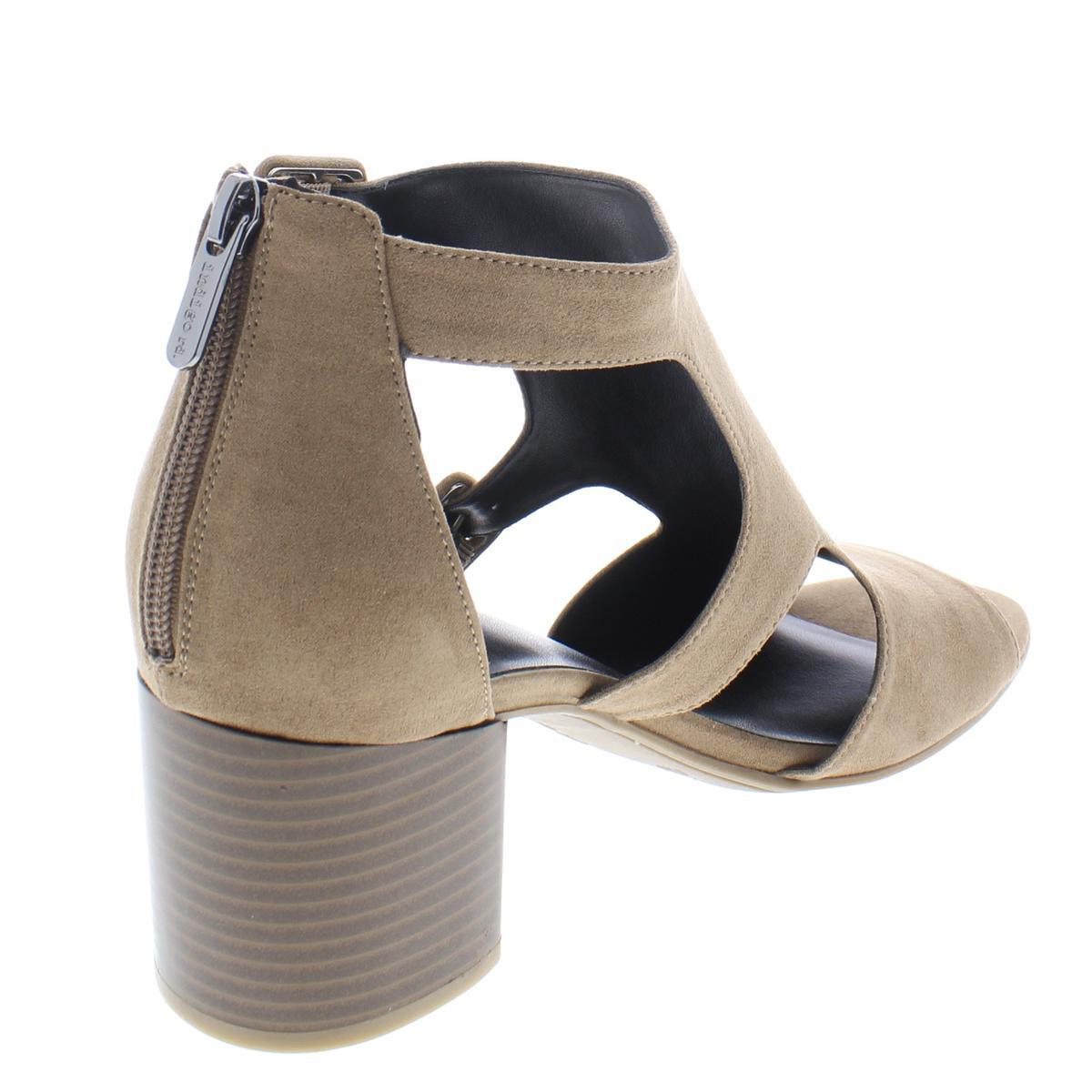 Indigo-Rd-Womens-Mandi-Faux-Suede-Buckle-Open-Toe-Heels-Sandals-BHFO-1720 thumbnail 4