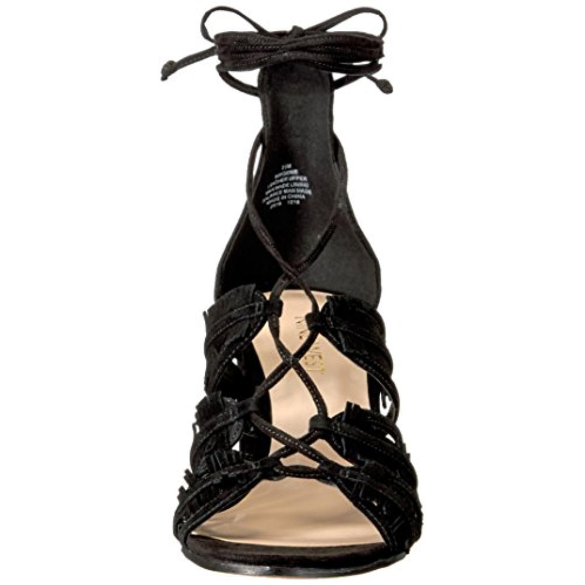 Nine-West-Womens-Genie-Suede-Open-Toe-Heels-Dress-Sandals-Shoes-BHFO-3210 thumbnail 9