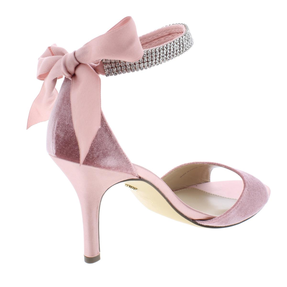 Nina-Womens-Vinnie-Pink-Satin-Evening-Heels-Shoes-8-5-Medium-B-M-BHFO-9996 thumbnail 2