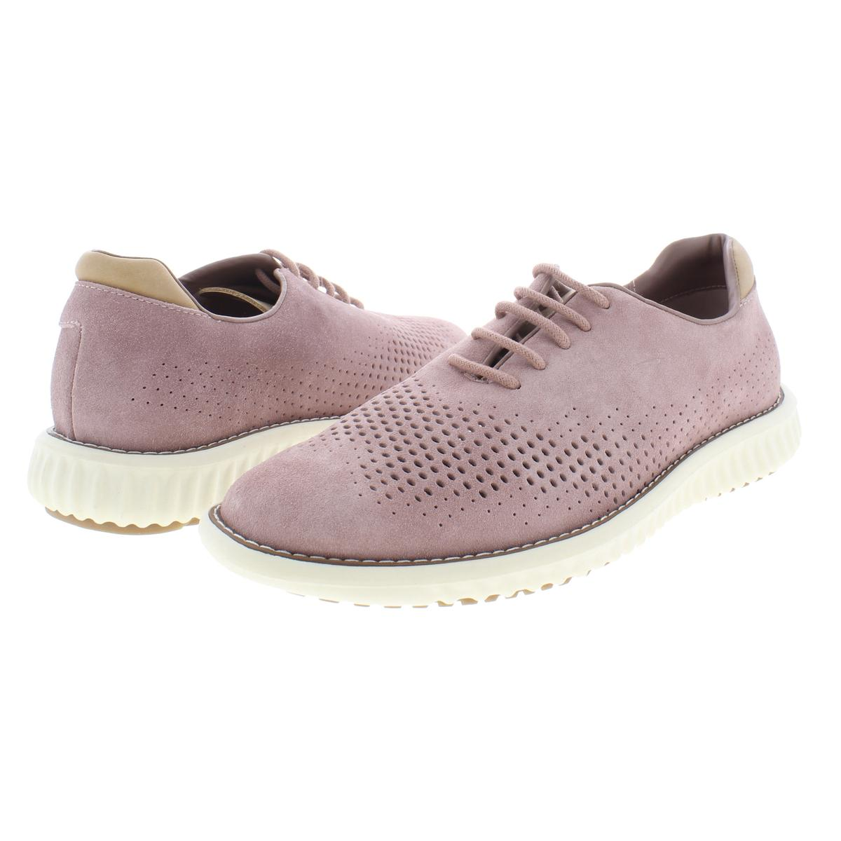 Steve-Madden-Mens-Vaelen-Suede-Perforated-Lace-Up-Oxfords-Sneakers-BHFO-9910 thumbnail 8