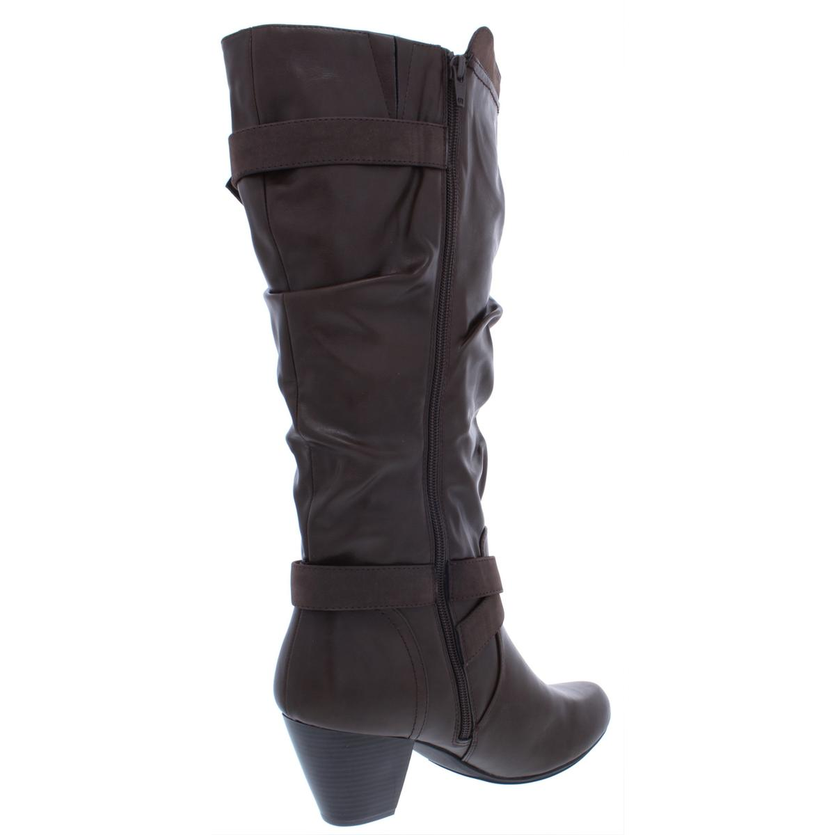 Rialto Damenschuhe Crystal Faux Stiefel Leder Knee-High Dress Stiefel Faux Heels BHFO 3178 664e73