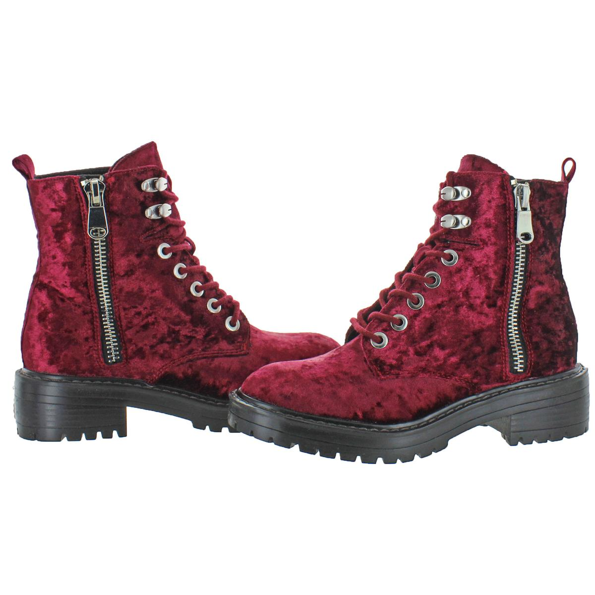 af4c8e89f66 Details about Steve Madden Women's Revive Lace-Up Chunky Heel Ankle Combat  Boots