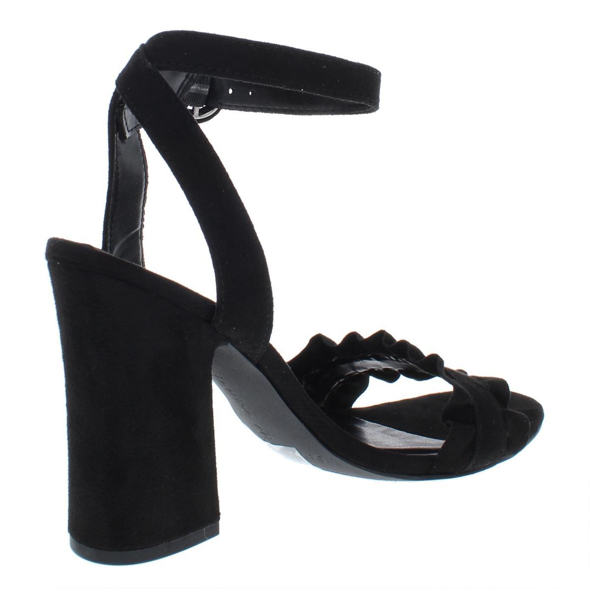 Indigo-Rd-Womens-Sandie-Faux-Suede-Block-Heel-Dress-Sandals-Shoes-BHFO-6802 thumbnail 4