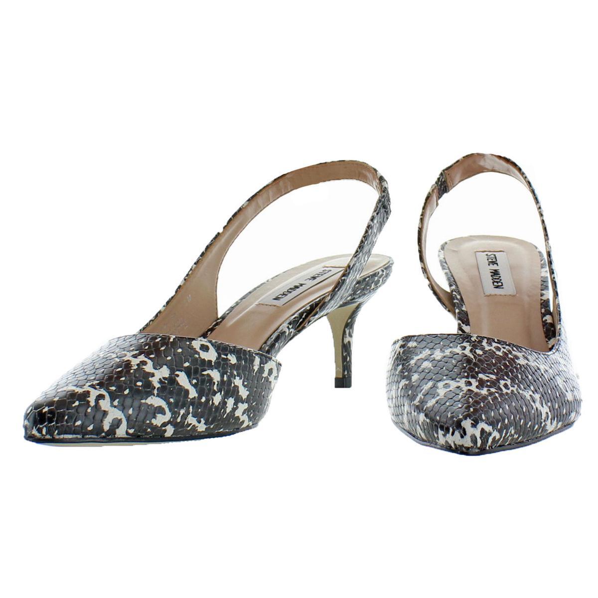 Steve-Madden-Vera-Women-039-s-Slip-On-Pointed-Toe-Half-d-039-Orsay-Slingback-Heels thumbnail 7