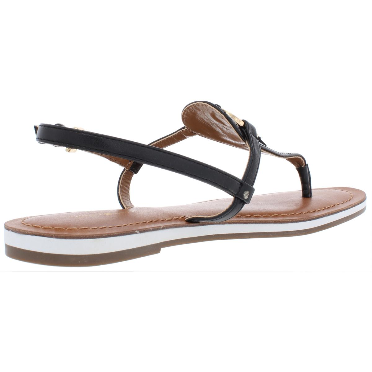 Tommy-Hilfiger-Womens-Genei-Metallic-T-Strap-Thong-Sandals-Shoes-BHFO-7834 thumbnail 4