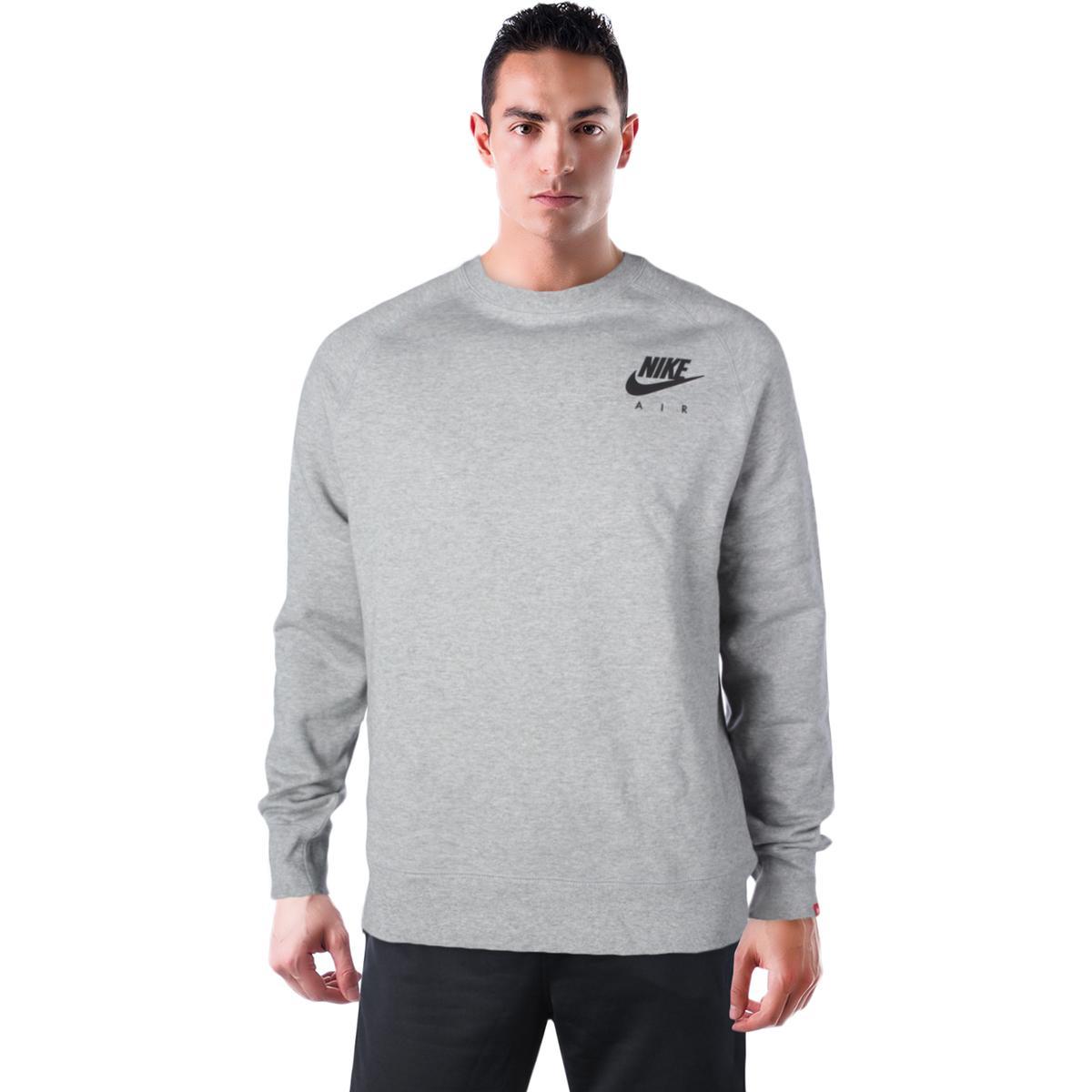 987e2d65b880 Details about Nike Sportswear Men s Long Sleeve Crewneck Fleece Sweatshirt  Reflect