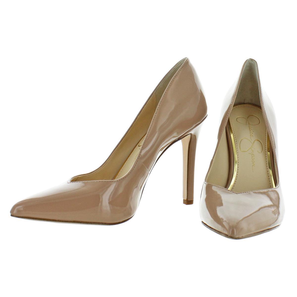 Jessica-Simpson-Women-039-s-Cylvie-Metallic-V-Cut-Classic-Pumps-Heels-Shoes thumbnail 7