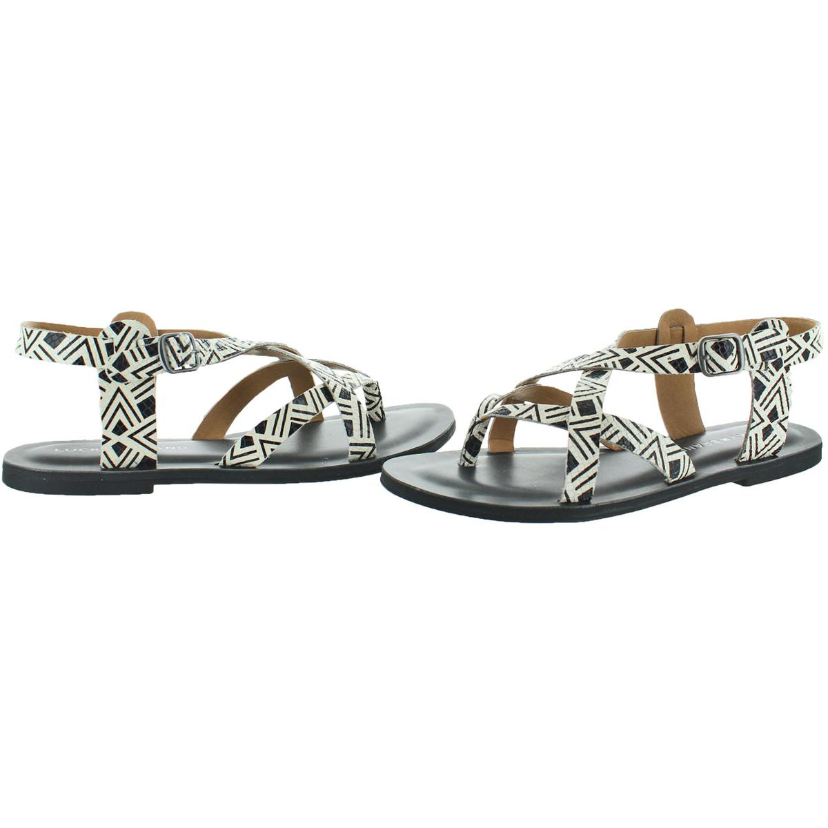 Lucky-Brand-Jeans-Adinis-Women-039-s-Leather-Strap-Flat-Sandals-Shoes thumbnail 5