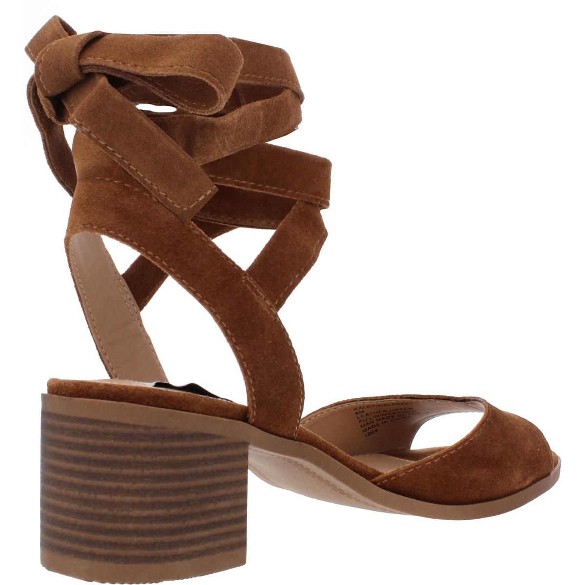Steve-Madden-Womens-Kaley-Suede-Ankle-Wrap-Dress-Sandals-Shoes-BHFO-0145 thumbnail 6