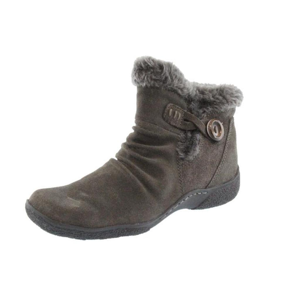 bare traps new loran gray suede lined button ankle boots