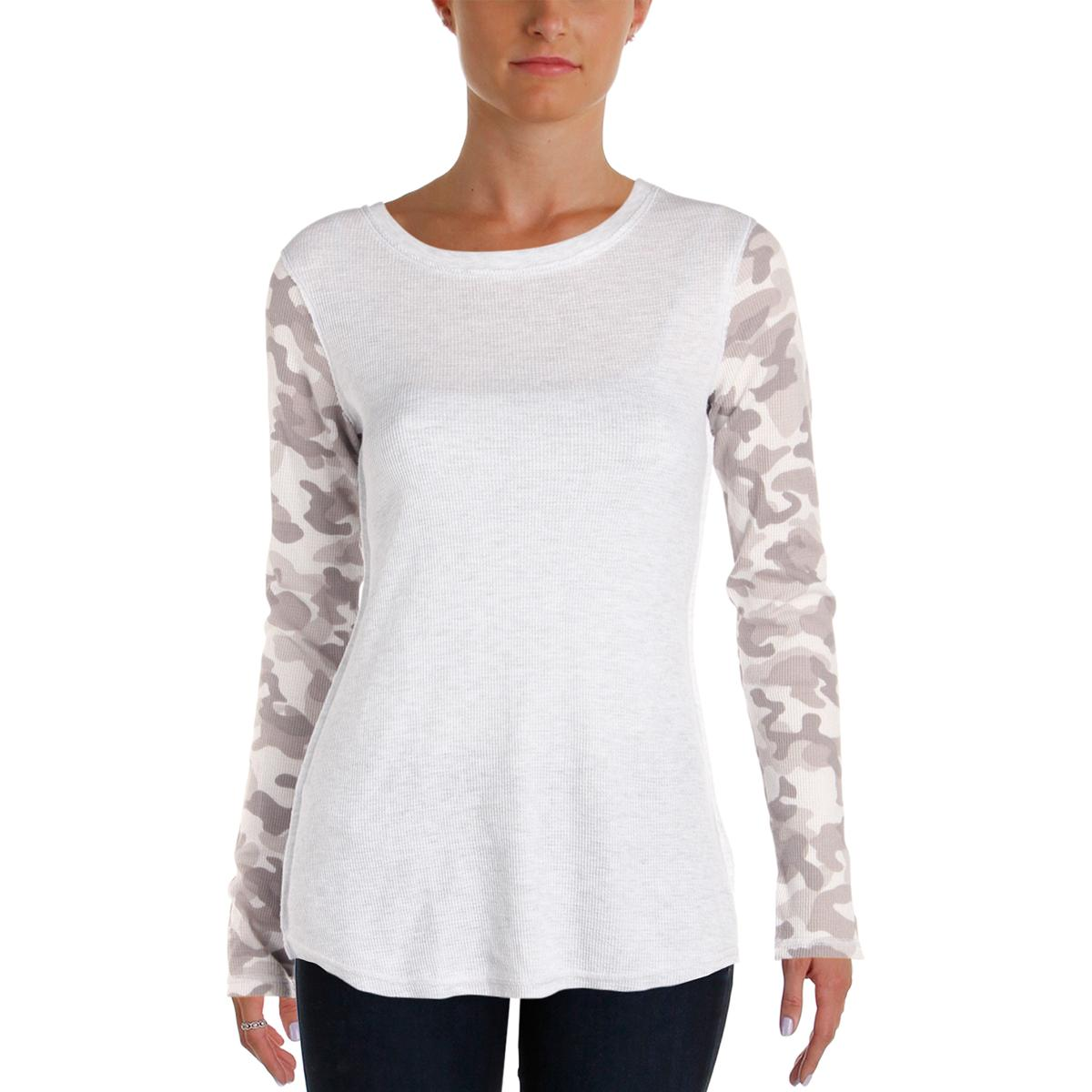 a50cbaca3645a3 Details about Kensie Womens Waffle Knit Camoflage Long Sleeves Thermal Top  Shirt BHFO 4127