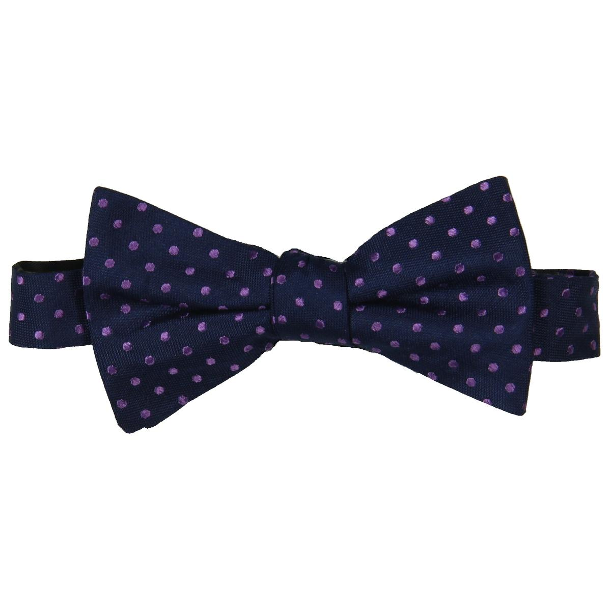 3fa61cf0a7 Details about Tommy Hilfiger Mens Oxford Navy Silk Polka Dot Business Bow  Tie O S BHFO 6815