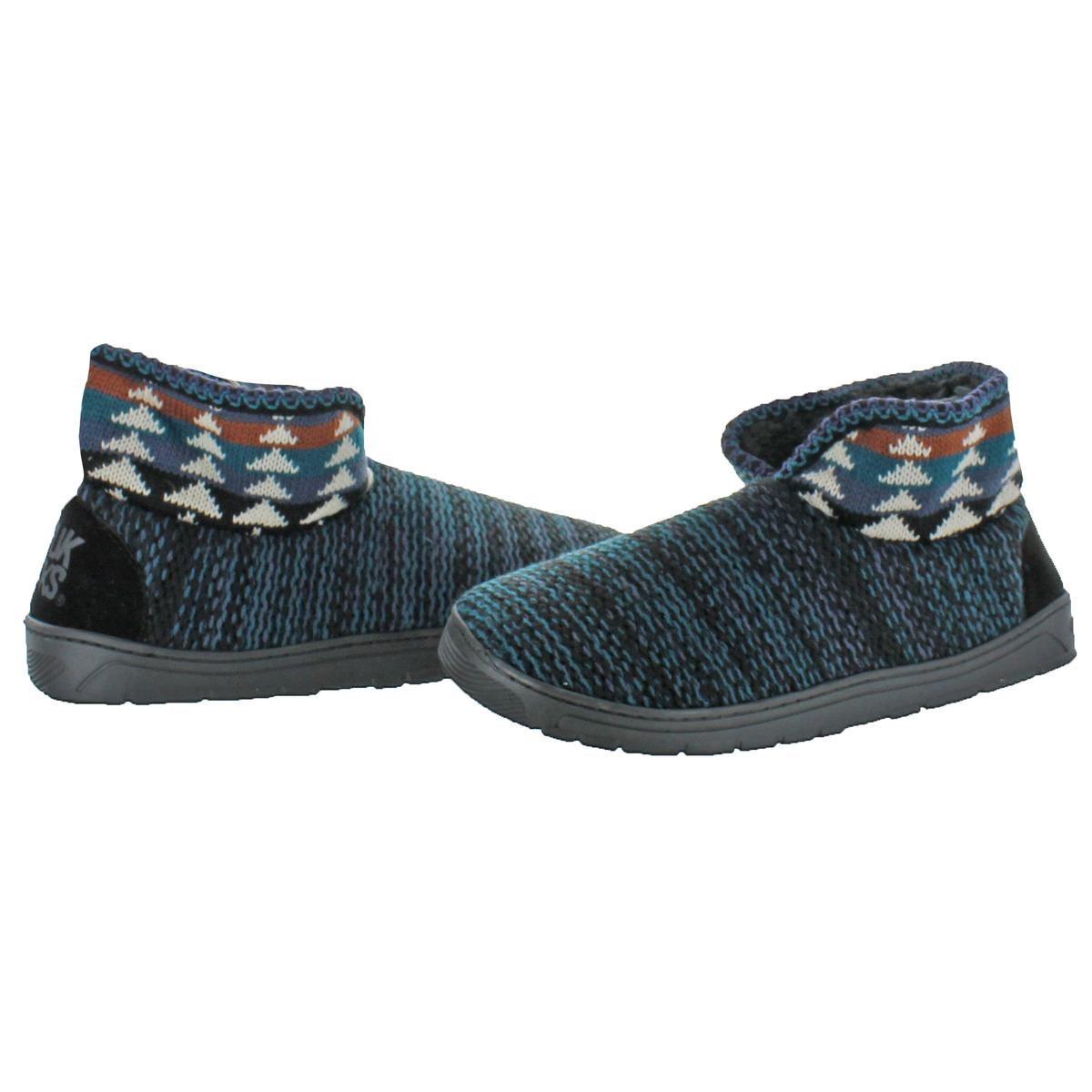 Mukluks-Men-039-s-Mark-Sweater-Knit-Furpa-Ankle-Bootie-House-Slippers thumbnail 17