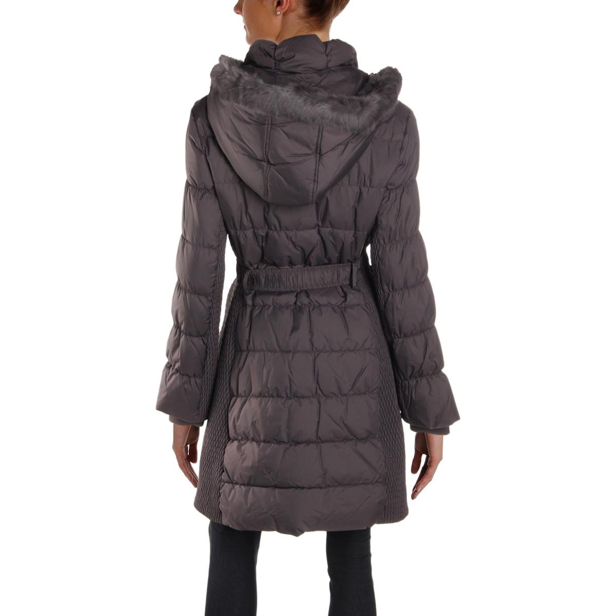 Via-Spiga-Womens-Winter-Down-Rabbit-Fur-Parka-Coat-Outerwear-BHFO-0865 thumbnail 6