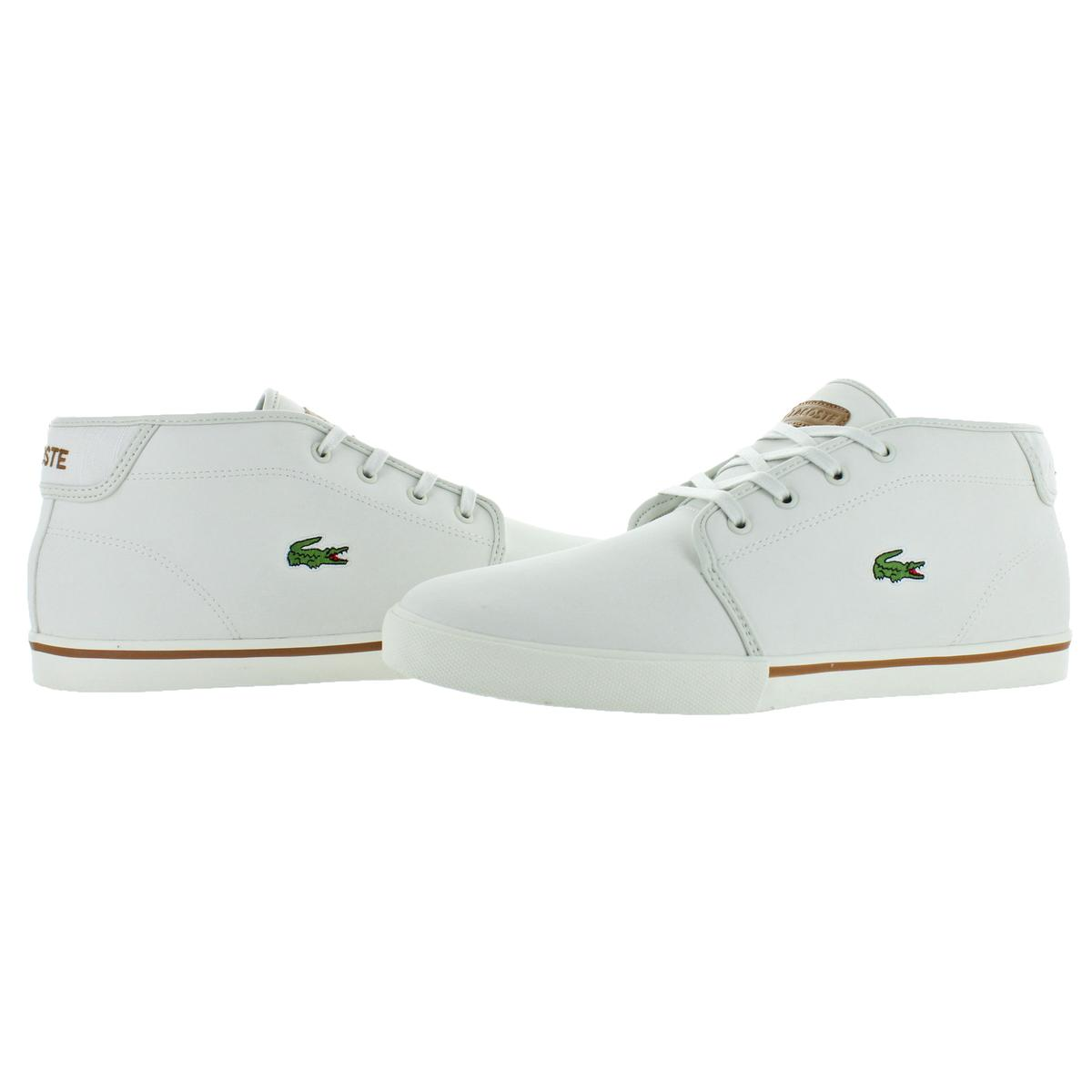 6bfe8a5b30d103 Lacoste Men s Ampthill Leather Chukka Mid-Top Fashion Sneakers Shoes ...