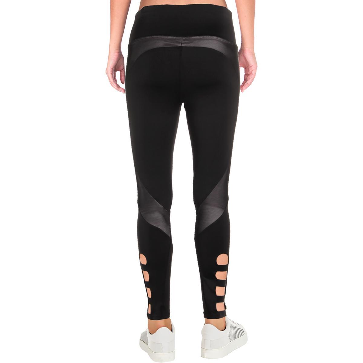 4d9ef4390111f BCBG Max Azria Womens Allegra Black Yoga Fitness Athletic Leggings ...