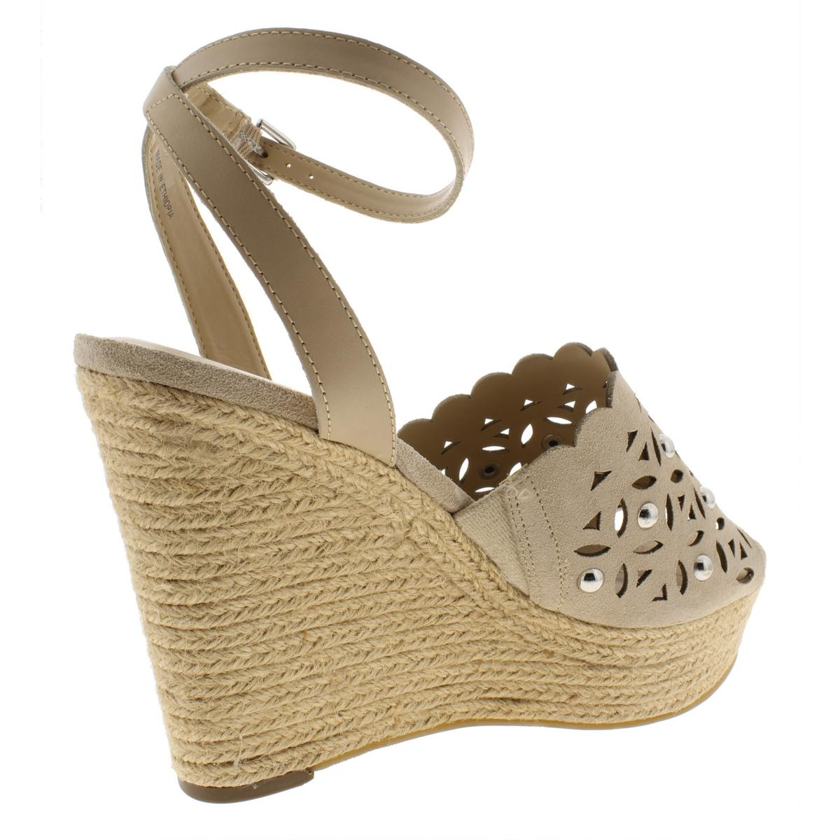 Marc-Fisher-Womens-Hata-Suede-Wedges-Embellished-Espadrilles-Shoes-BHFO-6455 thumbnail 9