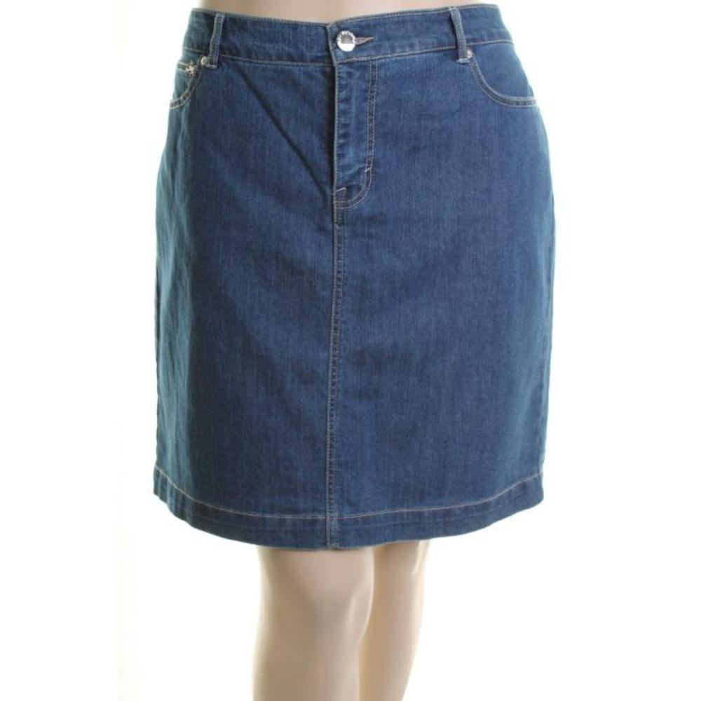 style co new blue jean knee length pencil denim skirt
