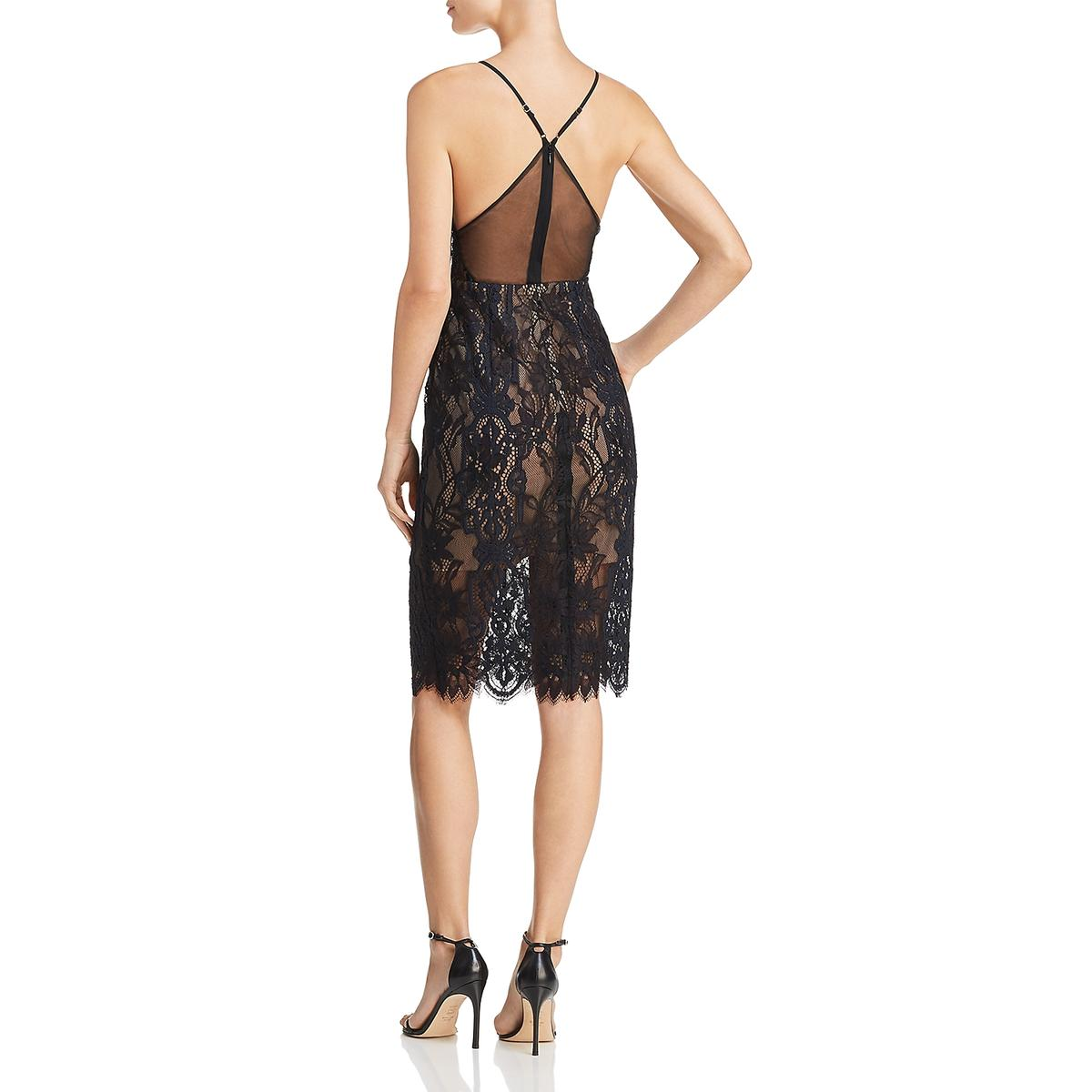 5e2011e8c1 BCBG Max Azria Womens Elvita Lace Sequined Party Cocktail Dress BHFO ...