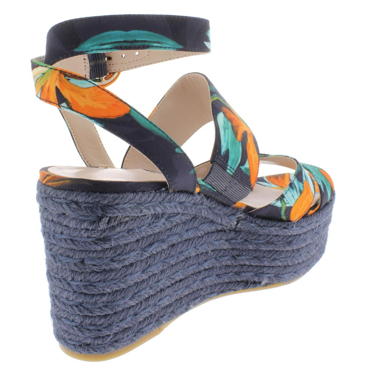 Nine-West-Womens-Kushala-Nubuck-Espadrille-Wedge-Sandals-Shoes-BHFO-7013 thumbnail 6