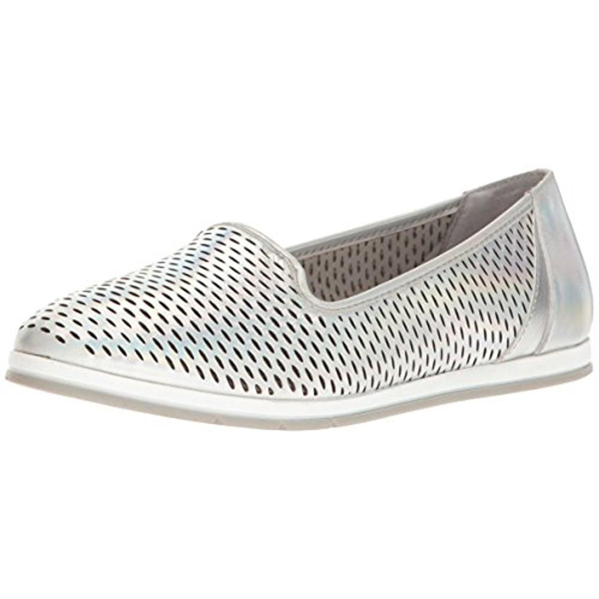 Aerosoles Womens Smart Move Leather Closed Toe Slide Silver Leather Size 7.0 P