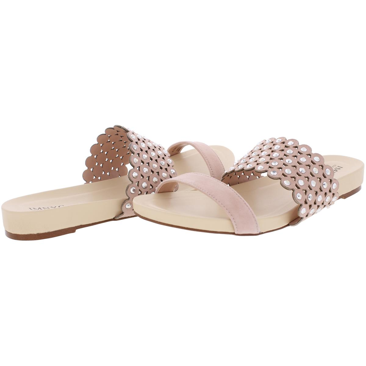 IMNYC-Isaac-Mizrahi-Womens-Suzie-Open-Toe-Studded-Slide-Sandals-Shoes-BHFO-2715 thumbnail 11