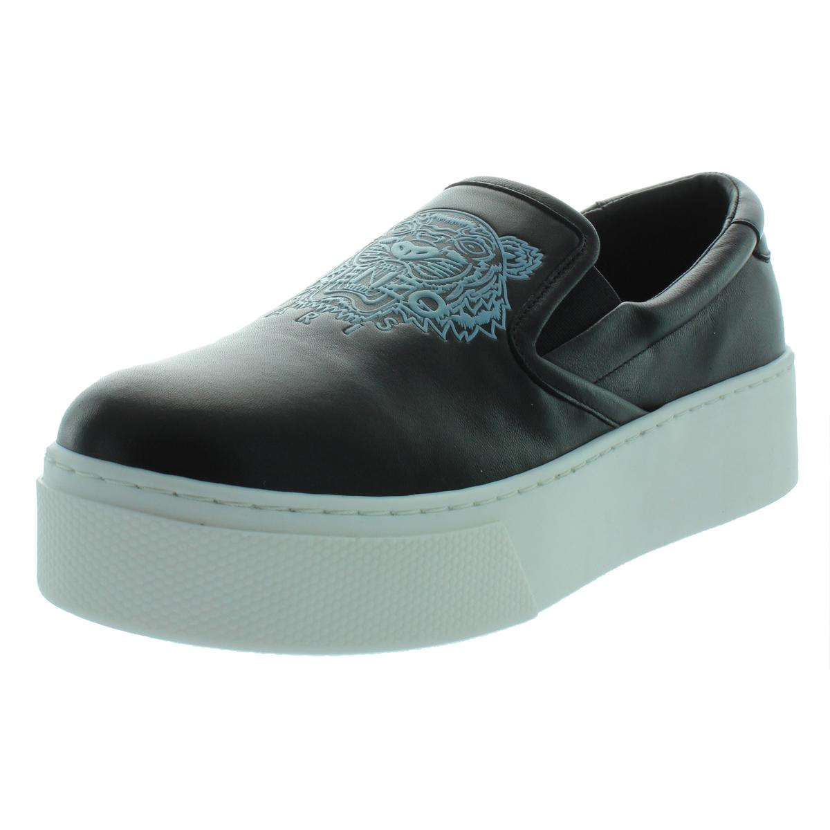 83a25fc75ea9 Details about Kenzo Womens Black Leather Casual Shoes Platforms 37 Medium  (B