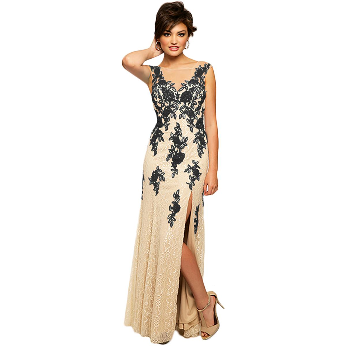 JVN by Jovani Womens Lace Applique Prom Formal Dress Gown BHFO 3524 ...