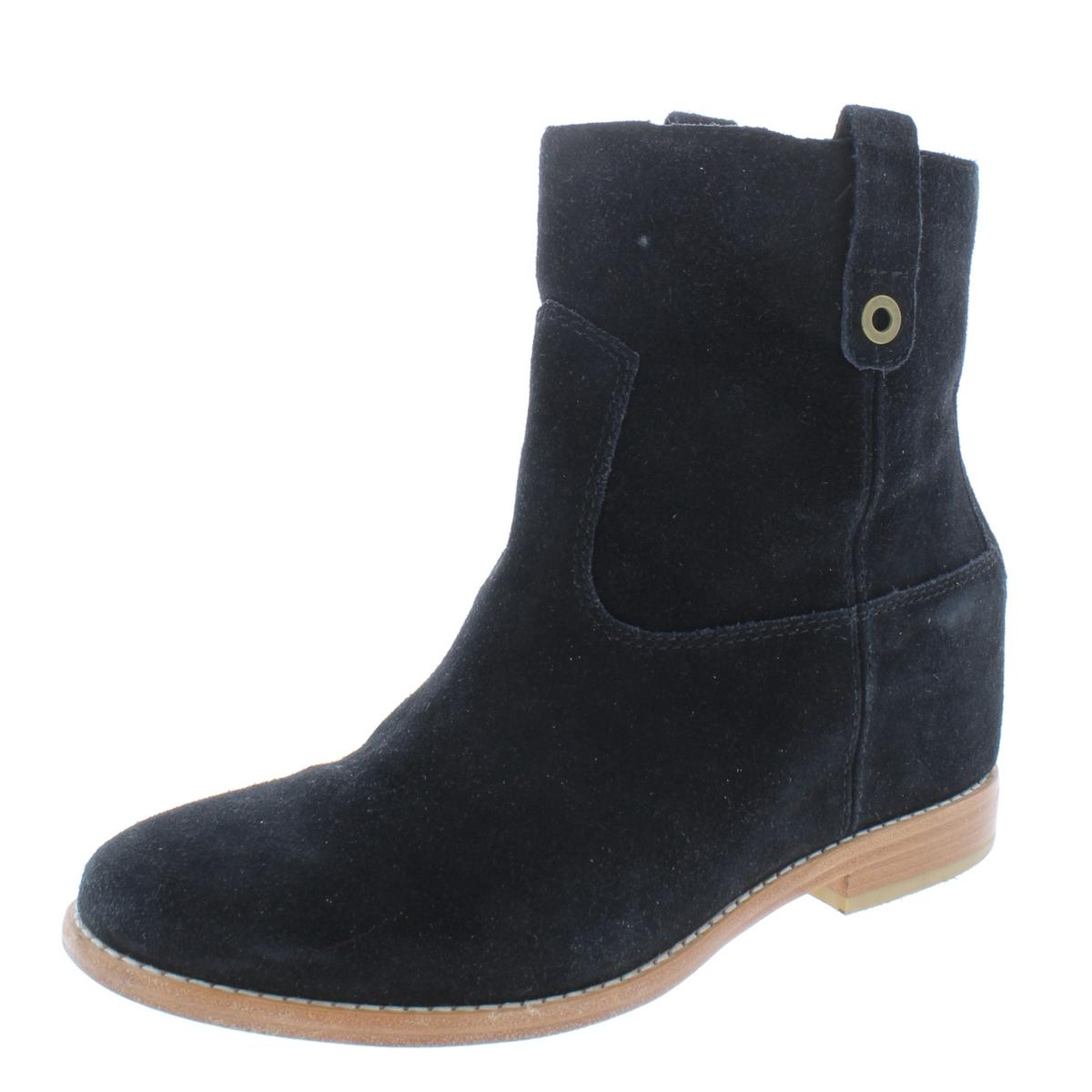 Cole Haan Womens Zillie Black Suede Booties shoes 8 Medium (B,M) BHFO 6040