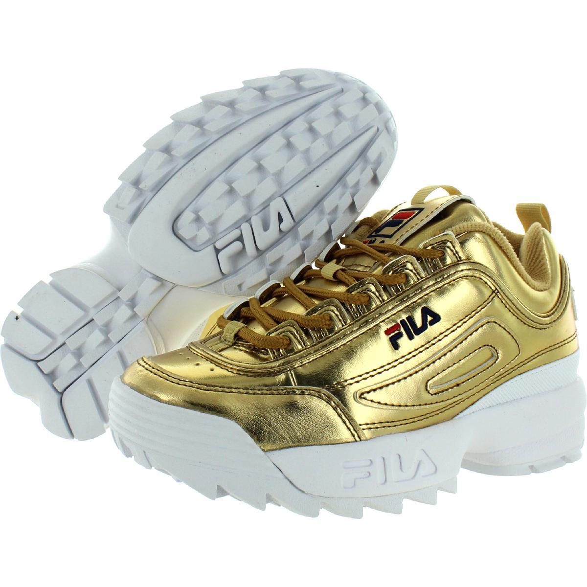 Fila-Womens-Disruptor-II-Premium-Metallic-Trainers-Sneakers-Shoes-BHFO-5237 thumbnail 5
