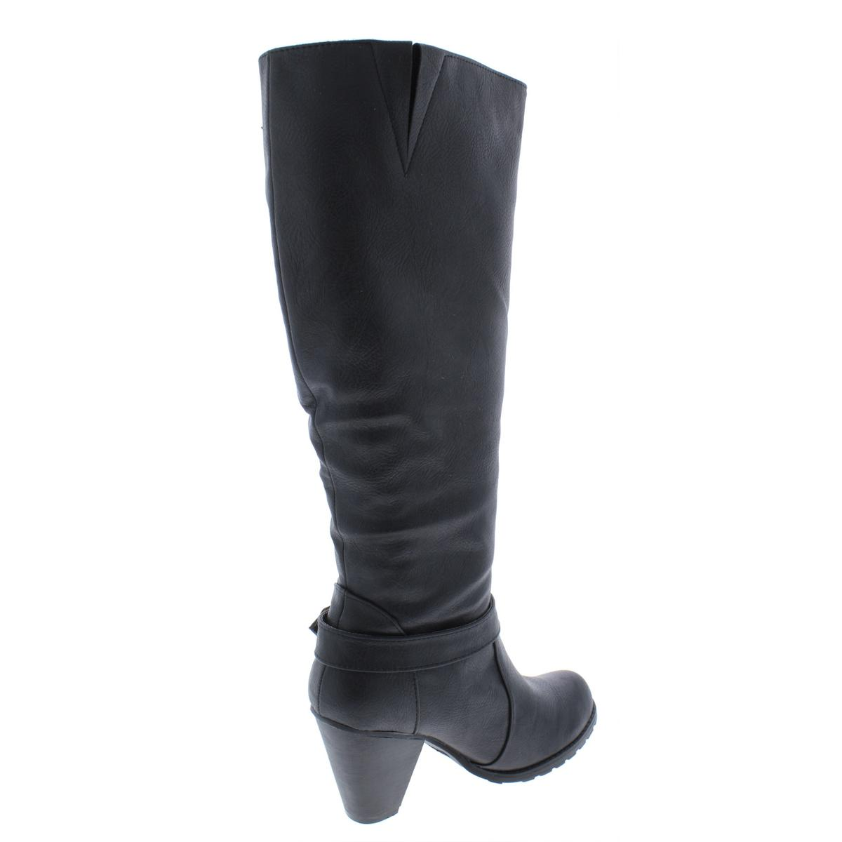 72c3faef050 Details about Relativity Womens Calyn Black Knee-High Boots Shoes 8.5  Medium (B