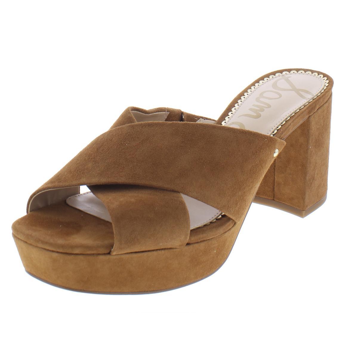 c44f6e82fe21 Details about Sam Edelman Womens Jayne Brown Dress Sandals Evening 7.5  Medium (B