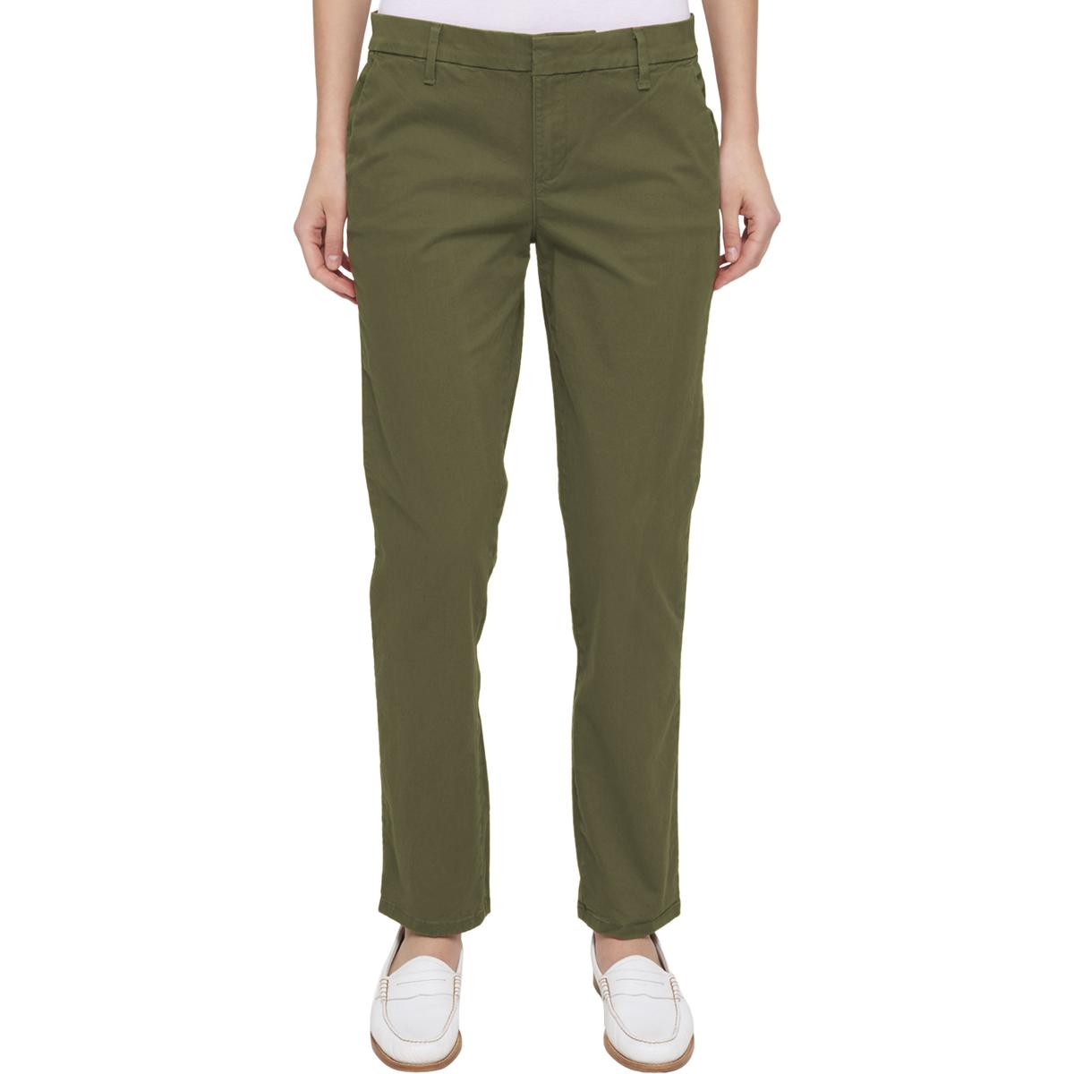 Tommy Hilfiger Womens Hampton Twill Slim Straight Leg Chino Pants ...