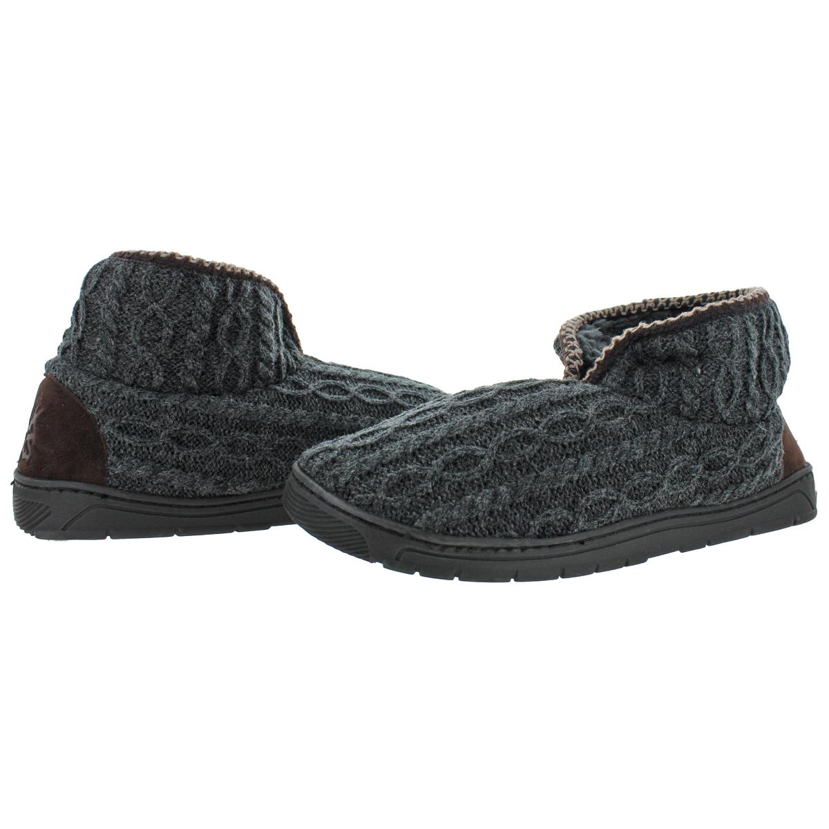 Mukluks-Men-039-s-Mark-Sweater-Knit-Furpa-Ankle-Bootie-House-Slippers thumbnail 20