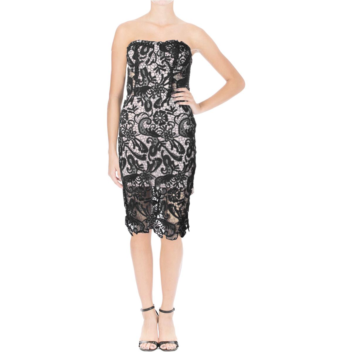 Olivaceous 3565 Womens Lace Strapless Party Cocktail Dress ...