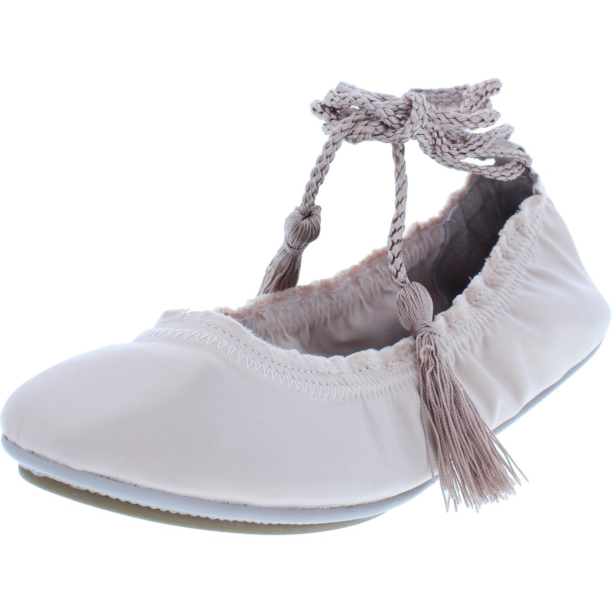 fbebebfde Details about Joie Womens Bandele Satin Ankle Wrap Flats Ballet Flats Shoes  BHFO 9719