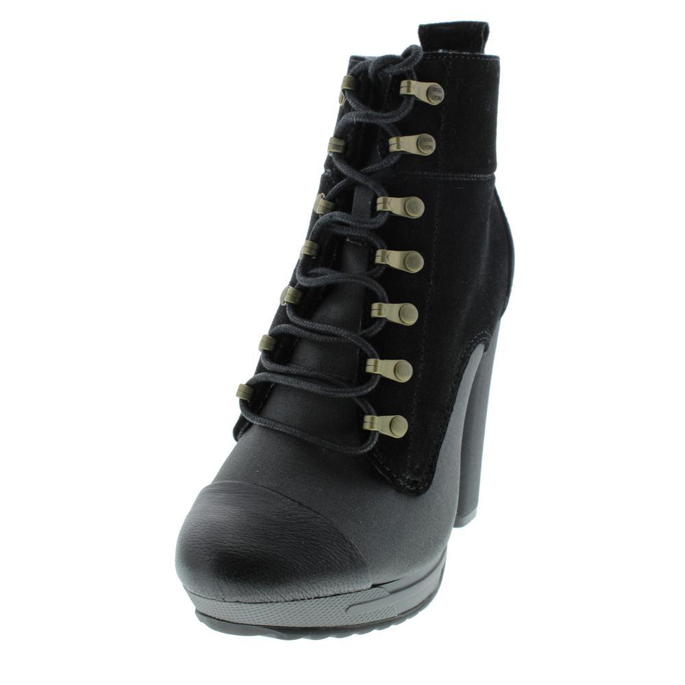 DIESEL Womens Hi-Laika Hi-Persis Suede Heels Lace-Up Ankle ...