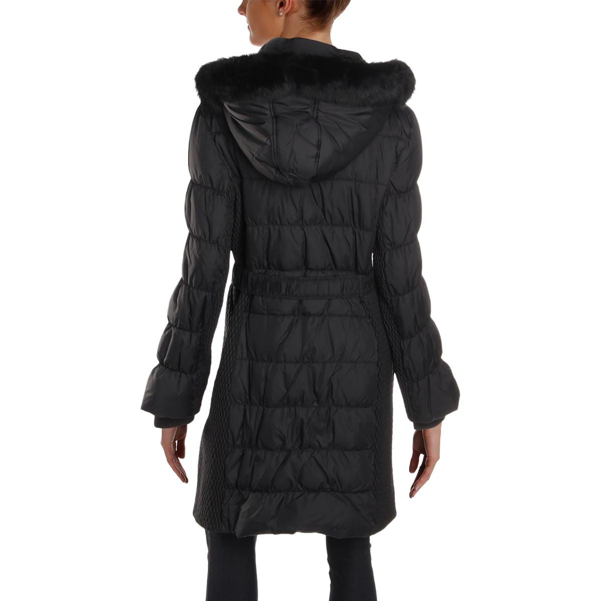 Via-Spiga-Womens-Winter-Down-Rabbit-Fur-Parka-Coat-Outerwear-BHFO-0865 thumbnail 4