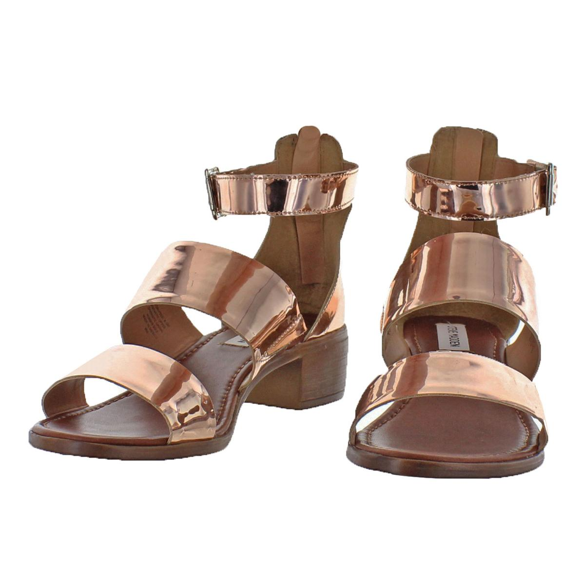 Steve-Madden-Womens-Daly-Leather-Open-Toe-Dress-Heels-Sandals-BHFO-5458 thumbnail 9