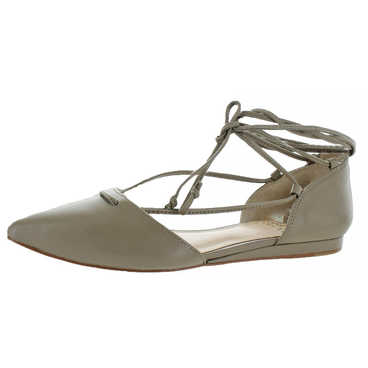 Vince Camuto Womens Hadia Taupe Pointed Toe Flats Shoes 9 Medium (BM) BHFO 3010
