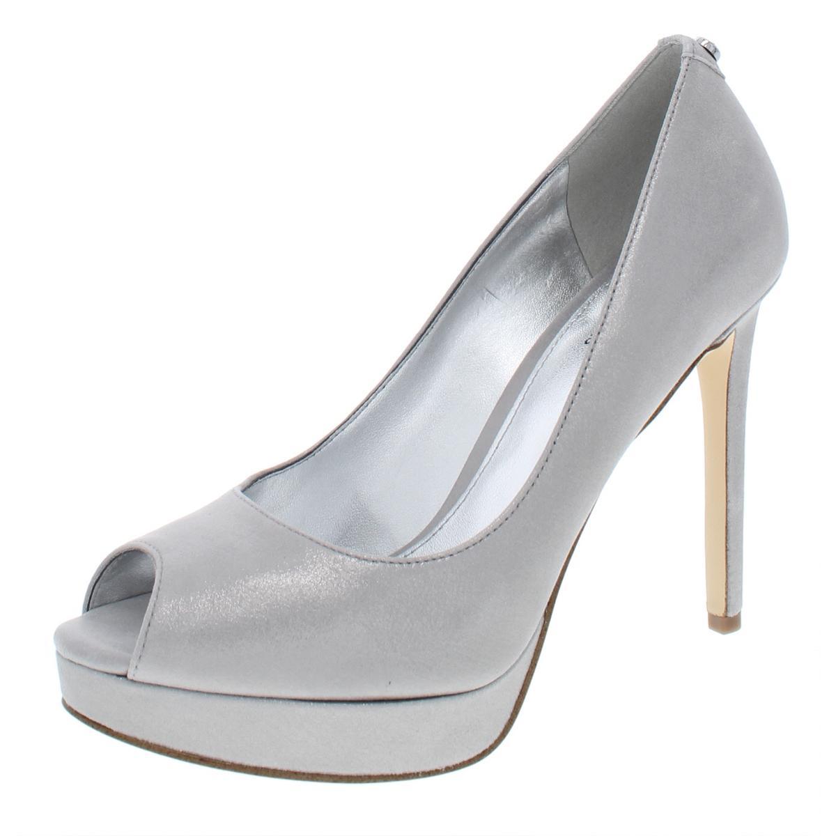 59e7a57ac760 Details about MICHAEL Michael Kors Womens Erika Leather Platform Pumps  Heels Shoes BHFO 7887