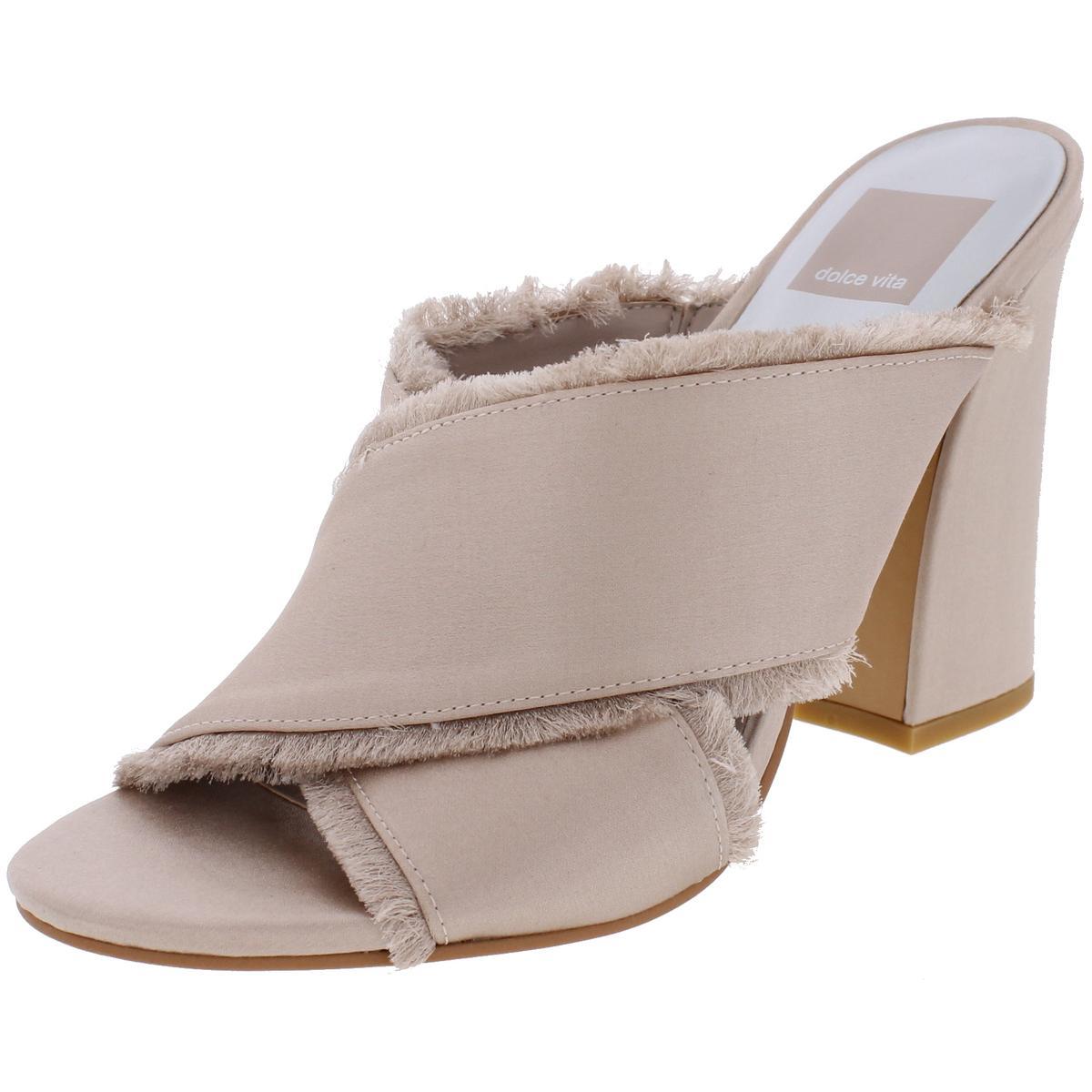 Dolce-Vita-Womens-Henry-Satin-Open-Toe-Fringe-Dress-Sandals-Shoes-BHFO-4289
