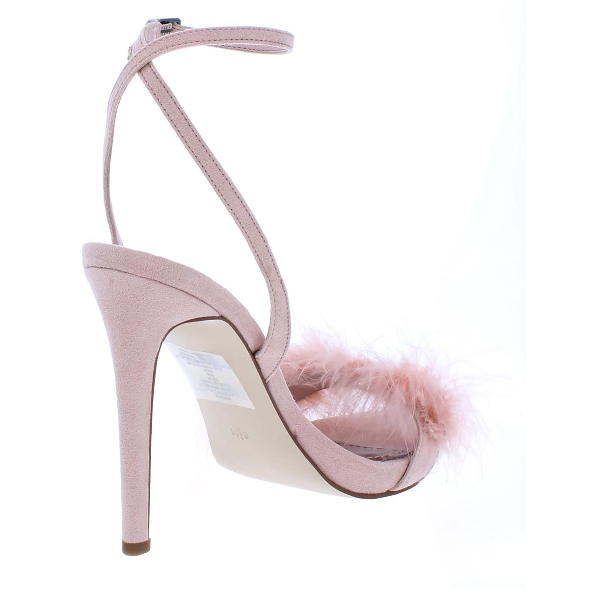 Guess donna Avis Suede Suede Suede Feather Open Toe Dress Sandals Heels BHFO 5432 b1317c
