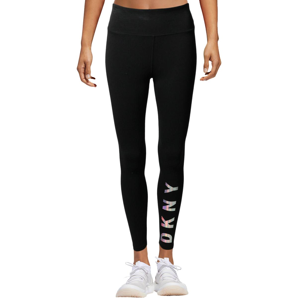aa922ff0a6af5 Details about DKNY Sport Womens Running Workout Training Athletic Leggings  Athletic BHFO 1510