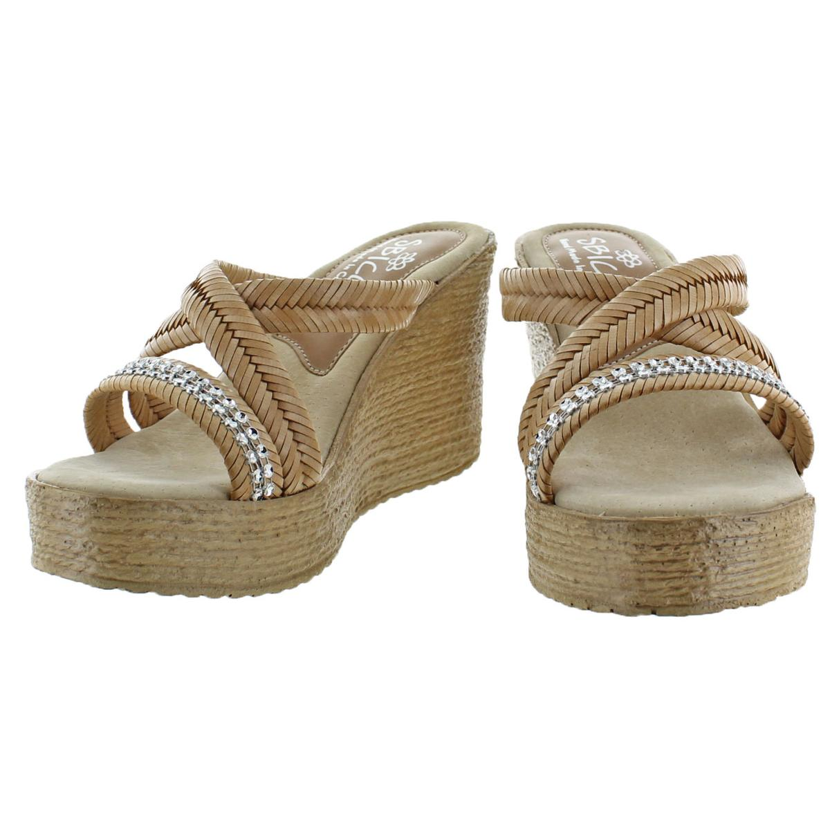 Sbicca-Zennia-Women-039-s-Jute-Slip-On-Chevron-Braided-Wedge-Sandals-Shoes thumbnail 7